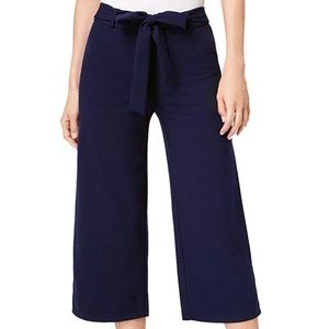 Maison Jules pull on tie waist cropped pants